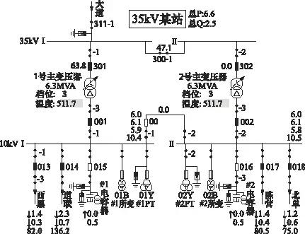 10kv系统采用单母线分段接线方式